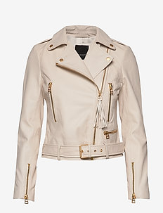 Soft Lamb Leather - Antille - leather jackets - white
