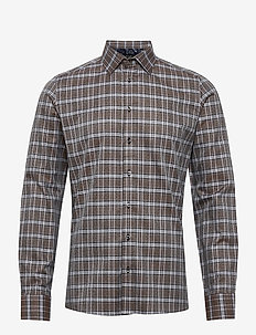 8654 - Iver 2 - checkered shirts - brown