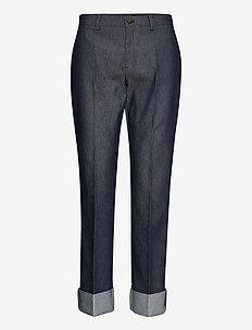 3395 - Dori A Turnup - pantalons droits - medium blue