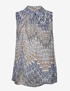 3392 - Prosi Top - sleeveless blouses - blue