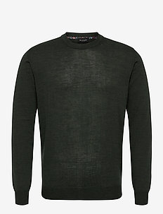 Merino Light - Iq - basic gebreide truien - dark green