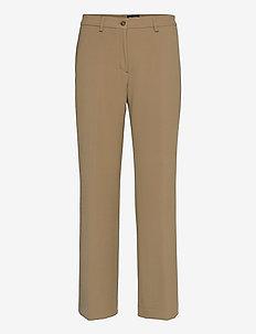3596 - Sasha Tailored - broeken med straight ben - light camel