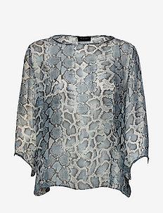 3400 - Nova - blouses met lange mouwen - blue