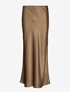 Double Silk - Lena - midi skirts - light camel