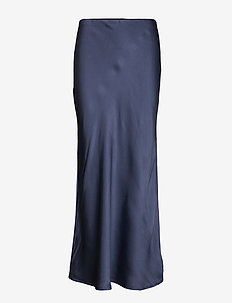Double Silk - Lena - midinederdele - medium blue