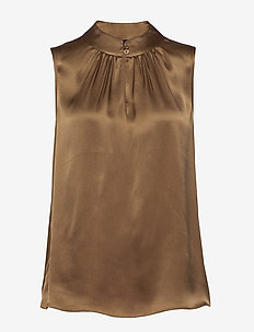 Double Silk - Prosi Top - Ärmlösa blusar - light camel