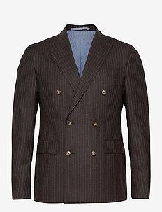 1654 - Star DB Normal - single breasted blazers - dark brown