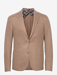 Flannel Jersey - Star Easy PP Norma - single breasted blazers - light camel
