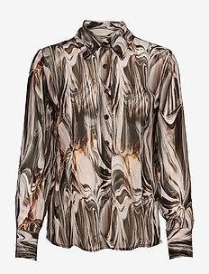 3389 - Lotte BC - overhemden met lange mouwen - light camel