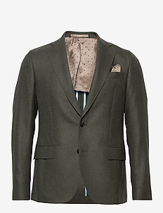 6135 - Jones Napoli 1/2 Normal - blazers met enkele rij knopen - green