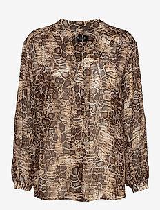 3411 - Cecil - long sleeved blouses - light camel