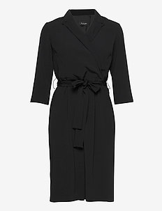 Crepe Satin Back - Bindy Sleeve - kietaisumekot - black