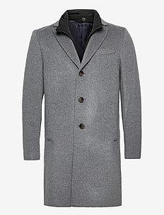 Cashmere Coat - Sultan Tech - ullfrakker - medium grey
