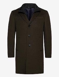 Cashmere Coat - Sultan Tech - ullrockar - olive/khaki