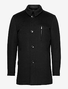 Cashmere Coat - Major N - wollen mantels - black