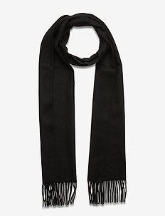 Scarf MW - S074 - 200 cm x 37 cm - sjaals - black