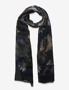Scarf MW - S282 68 cm x 180 cm - sjaals - medium blue