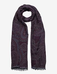 Scarf MW - S283 48 cm x 180 cm - sjaals - dark red