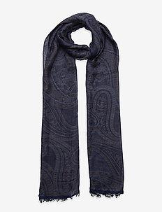 Scarf MW - S283 48 cm x 180 cm - sjaals - medium blue