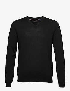 Merino Embroidery - Iv - basisstrikkeplagg - black
