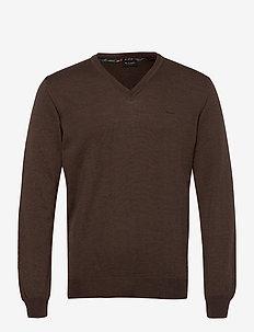 Merino Embroidery - Iv - basisstrikkeplagg - dark brown