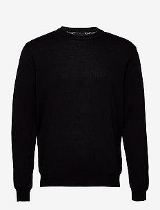 Merino Embroidery - Iq - podstawowa odzież z dzianiny - black