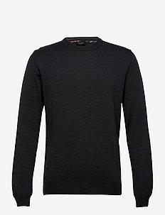 Merino Embroidery - Iq - podstawowa odzież z dzianiny - charcoal