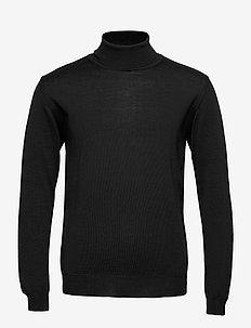 Merino Embroidery - Id - podstawowa odzież z dzianiny - black