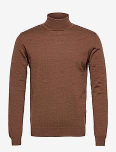 Merino Embroidery - Id - podstawowa odzież z dzianiny - brown