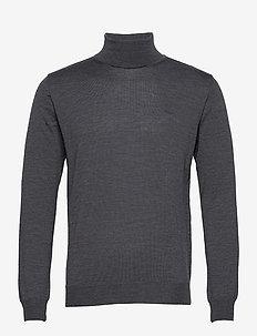 Merino Embroidery - Id - col roulé - medium grey