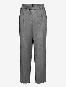 1698 - Haim - broeken med straight ben - grey
