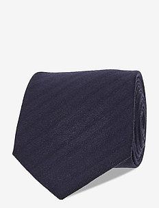 Ties 8 cm - T371 - slips - dark blue/navy