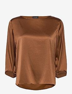 3176 - Nova - langærmede bluser - brown