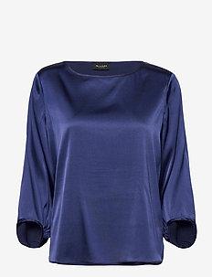 3176 - Nova - langermede bluser - medium blue