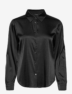 3176 - Latia - langærmede skjorter - black