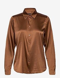 3176 - Latia - långärmade skjortor - brown