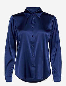 3176 - Latia - langermede skjorter - medium blue