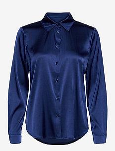 3176 - Latia - koszule z długimi rękawami - medium blue