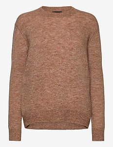 5066 - Marta Round Neck - jumpers - camel