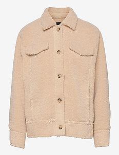 6326 - Leone - långärmade blusar - beige
