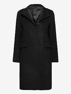 Cashmere Coat W - Parker 3 - ullkåper - black