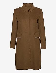 Cashmere Coat W - Parker 3 - wollen jassen - brown