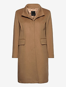 Cashmere Coat W - Parker 3 - ullkåper - camel