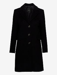 Cashmere Coat W - Britni 2 - ullkåper - black