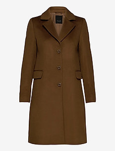 Cashmere Coat W - Britni 2 - ullkappor - brown
