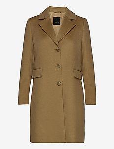 Cashmere Coat W - Britni 2 - ullkåper - camel