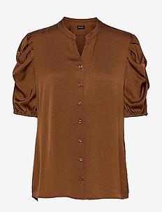 Satin Stretch - Naolin - blouses met korte mouwen - copper