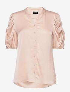 Satin Stretch - Naolin - blouses à manches courtes - nude