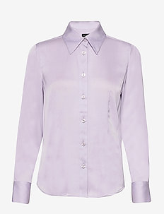 Satin Stretch - Lotte BC - long sleeved blouses - mauve