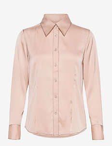 Satin Stretch - Lotte BC - long sleeved blouses - nude